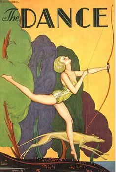 The Dance Magazine cover by Carl Link c.1929