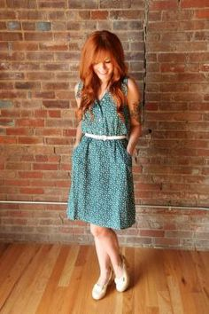 Similar to the Darling Ranges dress. Love this color and print!