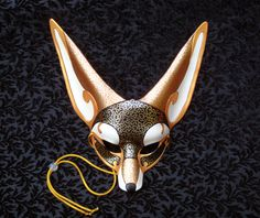 Venetian Fennec Fox Mask... handmade leather fennec by Merimask, $165.00 Beautiful, I want it so bad.