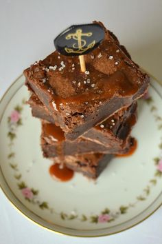 Tattooed Martha - Boozy Brownies with Salted Caramel Rum Sauce (6)