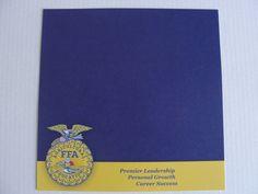 New FFA 12x12 scrapbook paper Premier Leadership, Personal Growth, Career Success by CraftsNextDorr on Etsy