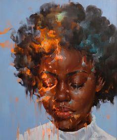 Black Love Art, Black Girl Art, Art Girl, Art Drawings, Art Sketches, Black Art Painting, Afro Art, African American Art, Dope Art