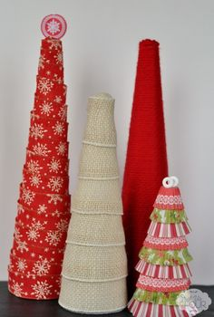 Decorating with Styrofoam Trees featured in 36 Holiday Crafts on The Best Blog Recipes