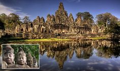 Angkor Wat contains Bayon temple (pictured) and remains of different capitals of the Khmer Empire Khmer Empire, Temple Pictures, Cruise Holidays, Angkor Wat, 12th Century, Travel News, Fort Lauderdale, Mykonos, New Zealand