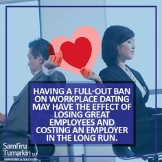 As a result of these changing times, employers need to be able to deal with the realities of such relationships between its employees, and the legalities and risks that could be associated with them. It is obvious that workplace romances can become very bad news for employers when they turn afoul.
