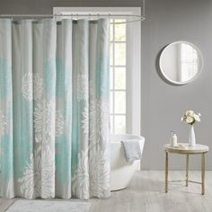 Shower Curtains You'll Love in 2020 | Wayfair Curtain Accessories, Bathroom Accessories Sets, Floral Shower Curtains, Shower Curtain Rods, Colorful Curtains, Transitional Style, Prints, Floral Design, Park