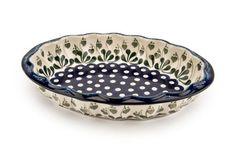 Polish Pottery - Alyce Scallop Baking Dish $48.50