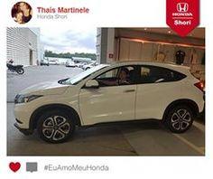 Thaís Martinele está feliz da vida com seu novo Honda HR-V. Saiu da concessionária como uma Diva!  Participe você também! Envie a foto do seu Honda. #EuAmoMeuHonda