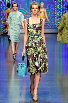 Dolce & Gabbana. Love the dress, but not paired with that bag.