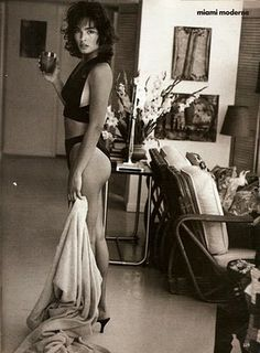 """When this was taken for Vogue in 1989, Talisa Soto was staring in """"License to Kill"""", one of my favorite James Bond movies. She is shown here wearing a bathing suit by Gorgio di Sant'Angelo."""