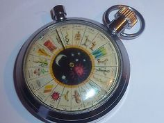 Vintage Fortune Telling Pocket Watch Game >>> Hun that's the Golden Compass Wicca, Magick, Gypsy Fortune Teller, Fortune Telling, Crystal Ball, Vintage Halloween, Occult, Tarot, Vintage Jewelry