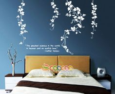 Wall-Decor-Decal-Sticker-Removable-vinyl-leaves-flower