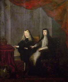 Carlos II y Mariana de Austria, círculo de Sebastián de Herrera Barnuevo.