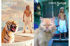 Imagens mostram a diferença entre o briefing e o orçamento do cliente ;-) - Blue Bus