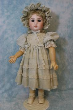 23 Antique Jules Steiner Paris Fre A 17 French Bisque Doll c1890 Marked Body An absolutely gorgeous French bisque doll by Jules Steiner. This doll has