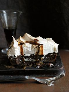 coffee meringue brownie from donna hay