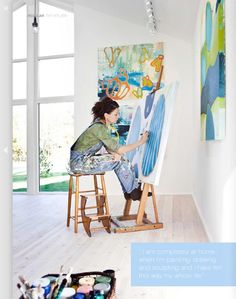 a large, light filled painting studio.lots of windows natural light! > rad photography of arts space and artists and studio Atelier Creation, Atelier D Art, My Art Studio, Painting Studio, Studio Musical, Artist Workspace, Art Studios, Artist At Work, Painting Inspiration