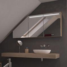 Spiegelschrank im Bad unter Dachschräge | Badezimmer ... | {Spiegelschränke bad 50}