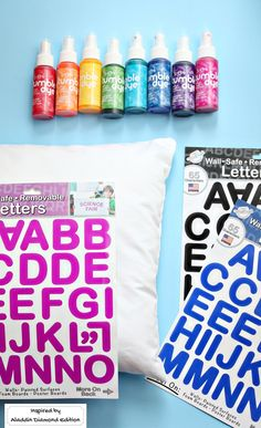 This DIY quote pillow is a cinch to make – shout out your Jasmine inspired girl power with a pillow, spray dyes, and sticky letters.
