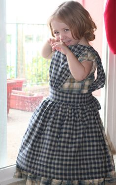 Toddler dress and pinafore for Melissa