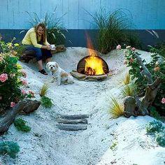 You can build a backyard beach for $200. | 51 Budget Backyard DIYs That Are Borderline Genius