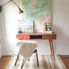Délimiter le coin bureau avec un tapis #pourchezmoi