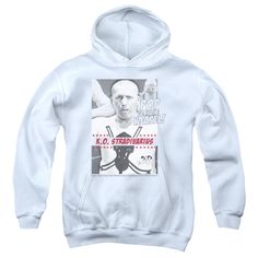 THREE STOOGES/WEASEL-YOUTH PULL-OVER HOODIE-WHITE