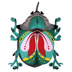 Paul is a beautiful beetle to decorate the walls of the house. It contains a box hidden behind its wings to store small objects or hang keys. Painting Inspiration, Art Inspo, Books Art, Bug Art, Insect Art, Bugs And Insects, Decoration Design, Art Plastique, Art Projects