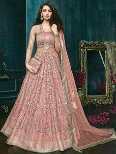 35c1636c0d Embroidered semi-stitched kalidaar suit - 15841228 - Zoom Image - 1 Salwar  Suits Pakistani