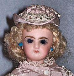 """12.5"""" Jumeau French Fashion Doll – Orig Wig! FARAWAY ANTIQUE SHOP on DOLL SHOPS UNITED - http://www.dollshopsunited.com/stores/faraway/items/1278329/125-Jumeau-French-Fashion-Doll-Orig-Wig #jumeau #antiquedoll #dollshopsunited"""