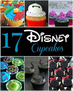 These Disney cupcakes are all perfect for a Disney-themed party! Don't buy when you can DIY! These are easy desserts you can make yourself.