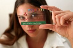 Crystal Clear Business Card - Kristallklare Visitenkarte