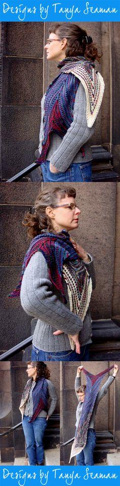 Pattern by Tanya Seaman Roving Yarn, Plaid Scarf, Curves, Pattern, How To Wear, Fashion, Moda, La Mode, Fasion