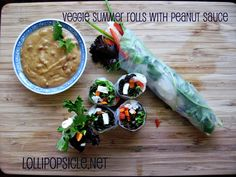 Veggie Summer roll with peanut sauce recipe