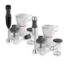KitchenAid® 3-in-1 Immersion Hand Blender - BedBathandBeyond.com - need for my garlic dip