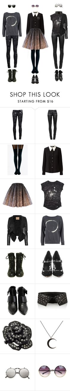 """""""Stardust"""" by ladomna ❤ liked on Polyvore featuring Paige Denim, Anine Bing, Pretty Polly, Orla Kiely, Max Azria, BLK OPM, Chanel, Dolce&Gabbana, John Fluevog and Karl Lagerfeld"""