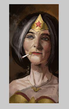 Eddie Liu é um artista de Xangai que criou uma pequena série de ilustrações imaginando alguns dos super heróis favoritas com a aparência mais idosa.