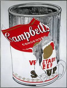 Andy Warhol (1930–1987)  Big Torn Campbell's Soup Can (Vegetable Beef), 1962  Acryl auf Leinwand, 183 x 137 cm  Erworben 1975  © ProLitteris