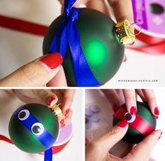 DIY Ninja Turtles Ornaments