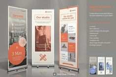 Bundle Elements - Business Roll-Up Vol. - Business Roll-Up Vol. - Business Roll-Up Vol. - Business Roll-Up Vol. - Business Roll-Up Vol. Business Brochure, Business Card Logo, Brochure Template, Flyer Template, Indesign Templates, Adobe Indesign, Rollup Design, Retractable Banner, Banner Stands