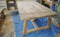 how to build a 4 4 farmhouse table denenecek projeler pinterest