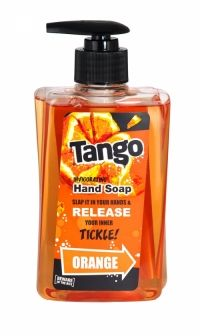 Tango Invigorating Hand Soap 350ml Orange Beware of the bite! Slap it in your hands & release your inner tickle!