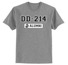 a9eaca27a4c DD-214 Alumni USMC T-Shirt Usmc T Shirts