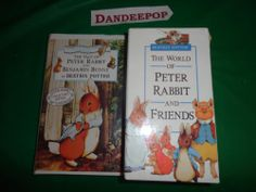 The World of Peter Rabbit and Friends Beatrix Potter 3 tape & Peter & Benjamin find me at www.dandeepop.com