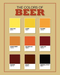 The Colors of Beer by Mills Mark (via Etsy).