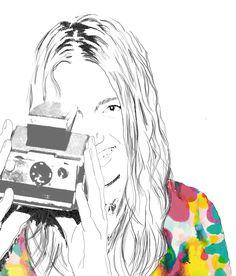 Illustration - pencil and pop of colour Color Pop, Colour, About Me Blog, Pencil, Illustrations, Anime, Art, Color, Art Background