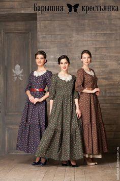 Купить Сердце России - комбинированный, цветочный, длинное платье, платье в пол, православное платье