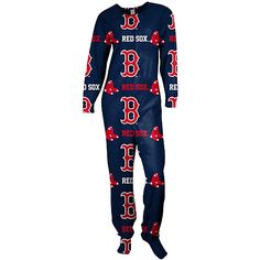 I MUST HAVE THESE!!!!! Boston Red Sox Highlight Footie Pajamas by Concepts Sport - MLB.com Shop