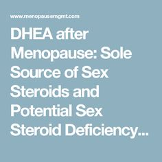 steroids and menopause