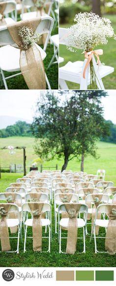 amazing wedding chair decoration with babysbreath